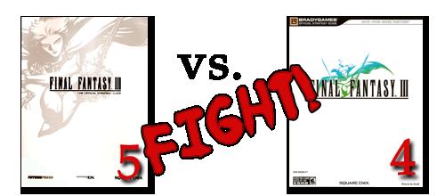 Final Fantasy III strategy guides - FuturePress vs. BradyGames