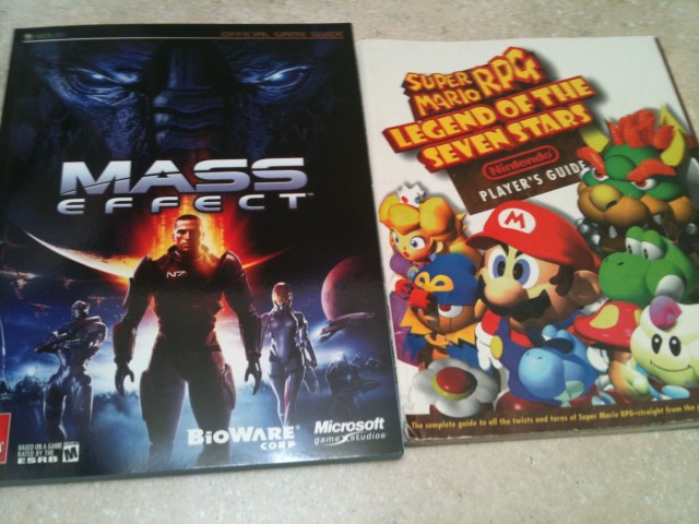 Mass Effect and Super Mario RPG: Legend of the Seven Stars strategy guides