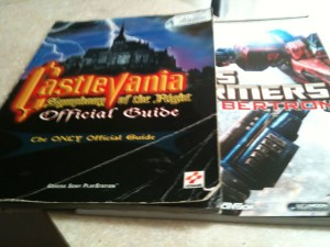 Castlevania: Symphony of the Night and Transformers War for Cybertron strategy guides