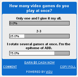 Poll: How many video games to you play at once?