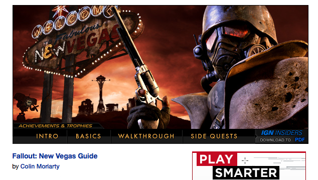 IGN New Vegas Guide & Walkthrough