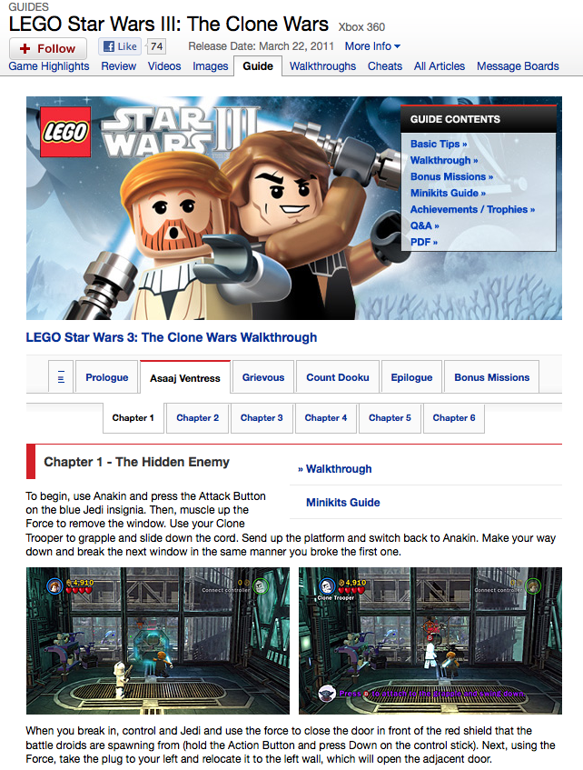lego star wars iii the clone wars ign strategy guide review rh strategyguidereviews com