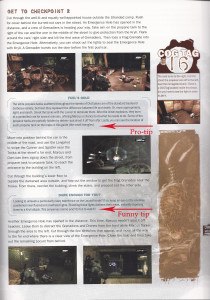 Page of Gears of War strategy guide