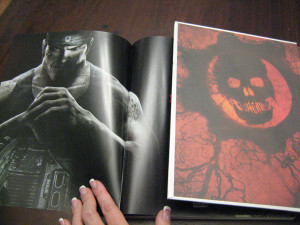 Inside covers of Gears of War 3 strategy guides