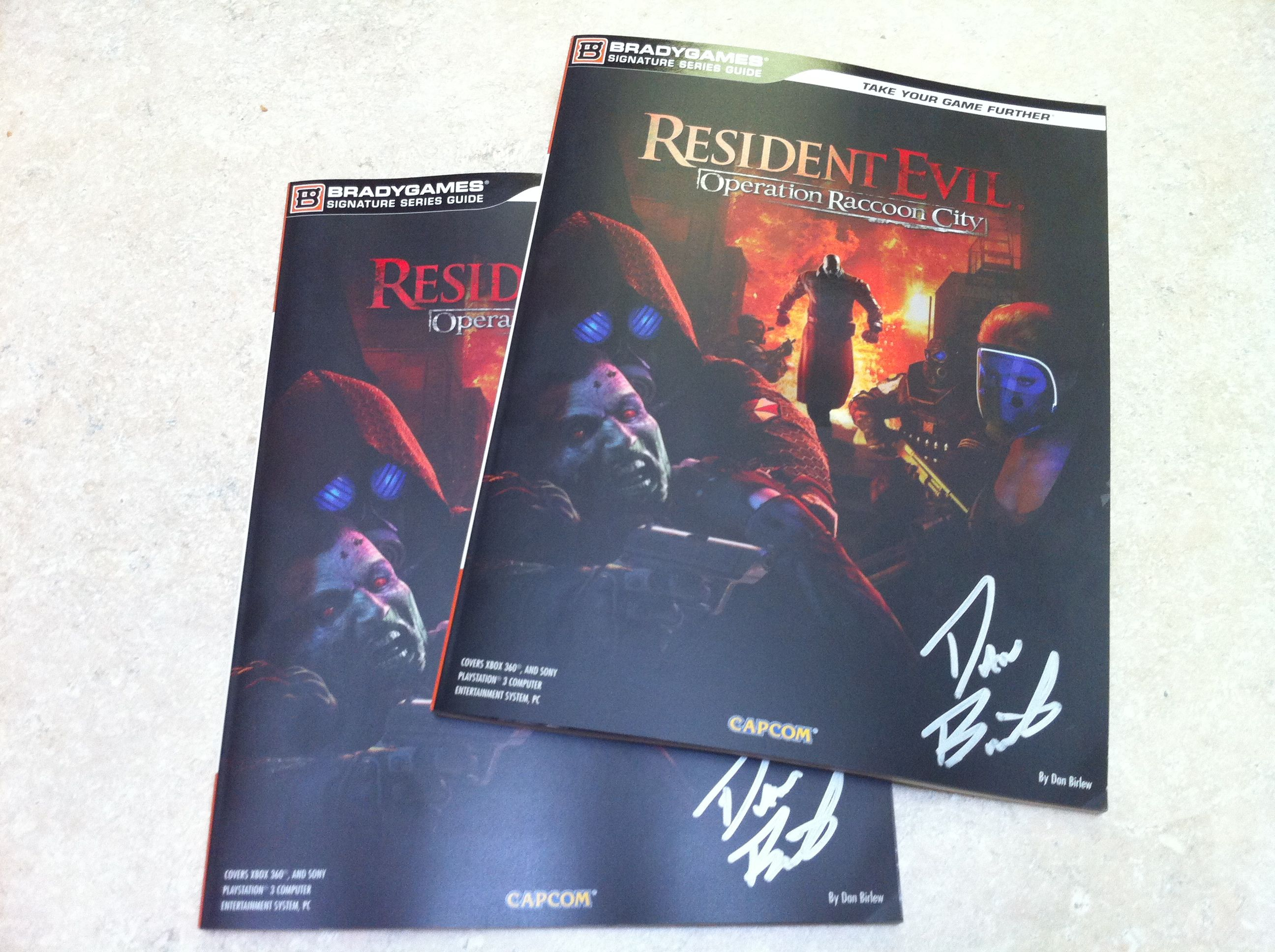 Autographed Resident Evil: Operation Raccoon City strategy guides