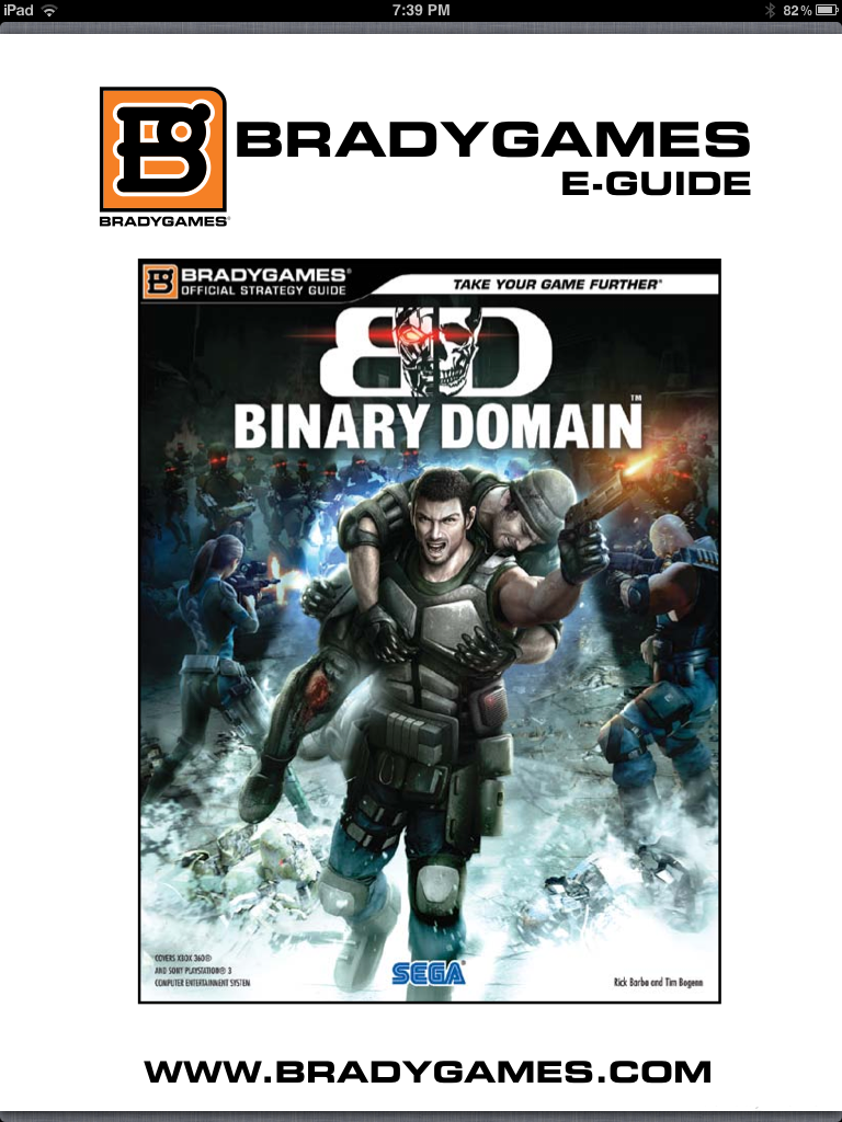 Binary Domain strategy guide