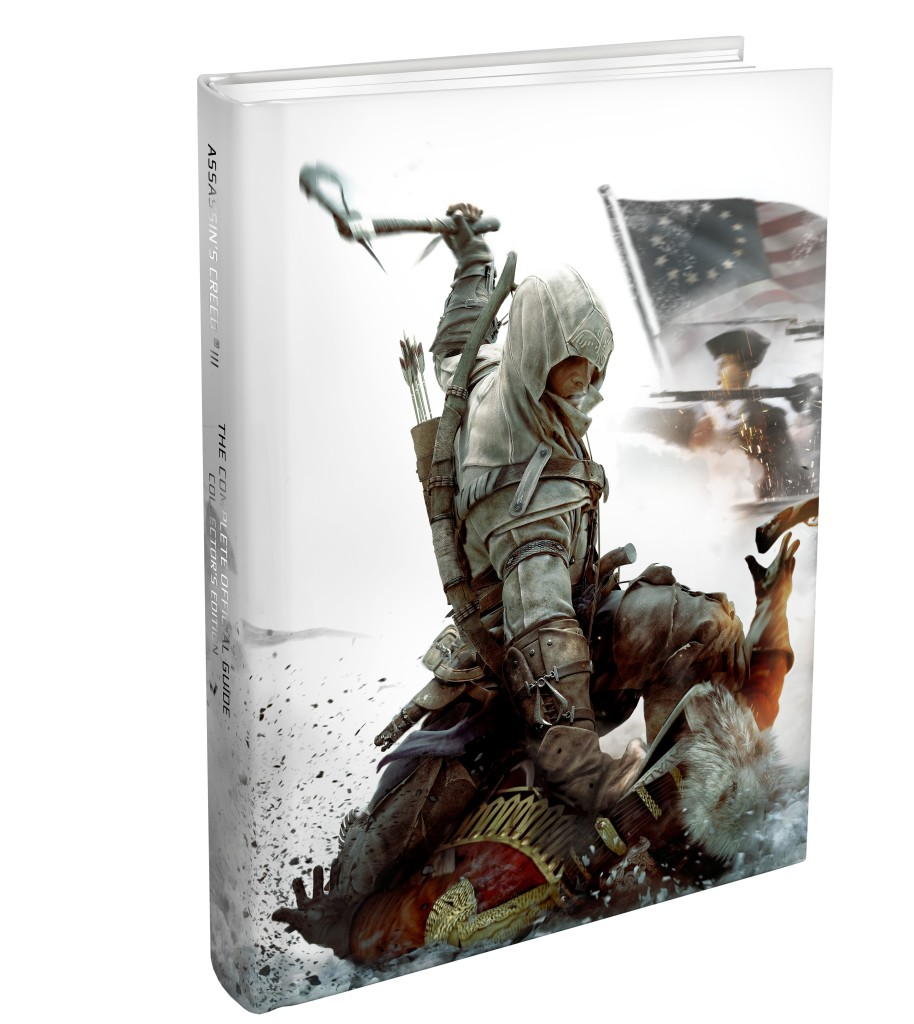 AC3CE U 3DCOV 120806 JK 914x1024 Assassins Creed III Strategy Guide Cover Revealed