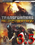 TFoC rating Transformers: Fall of Cybertron Strategy Guide Review