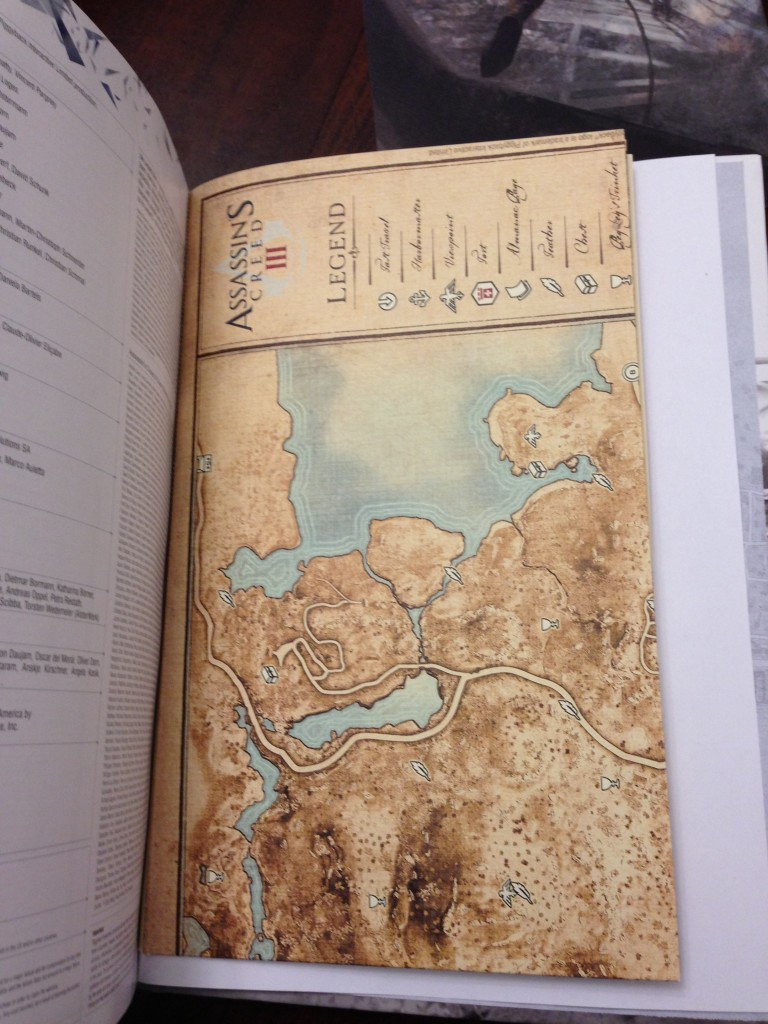 Vintage Map in Assassin's Creed III Collector's Edition strategy guide