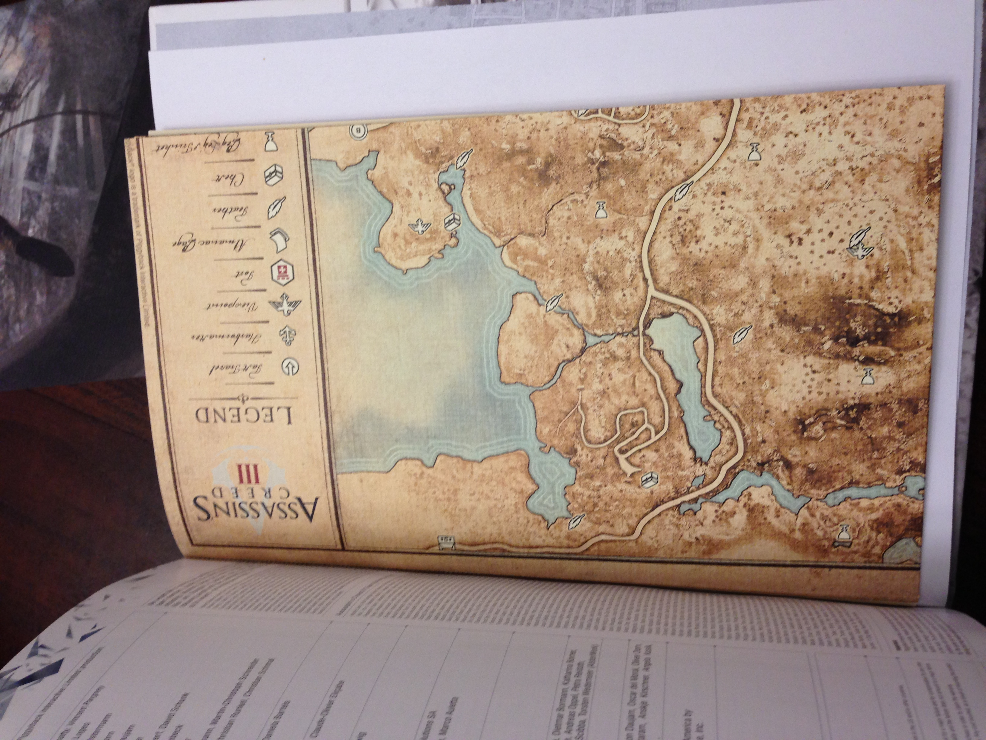 Vintage Map In Assassins Creed III Collectors Edition Strategy Guide